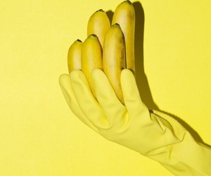 aesthetic, yellow, and banana image