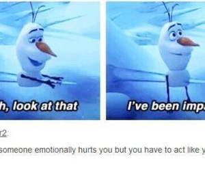 frozen, olaf, and hurt image