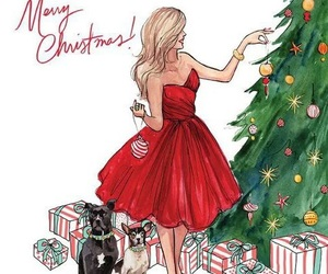 christmas, drawing, and merry christmas image