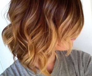 hair, short hair, and ombre hair image