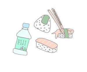 overlay, food, and kawaii image