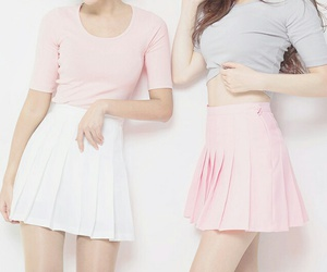 pink, pastel, and skirt image