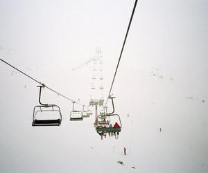snow, winter, and ski lift image