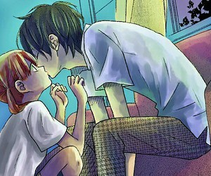 anime, kiss, and tonari no kaibutsu-kun image