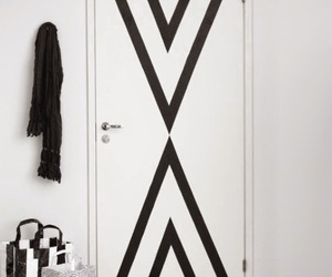black and white, decor, and diy image