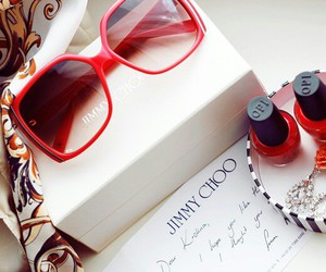 fashion, red, and Jimmy Choo image