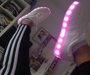 shoes, light, and pink image