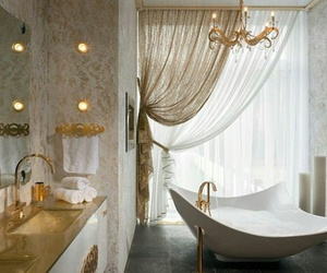 bathroom and gold image