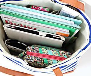 bag, school, and books image
