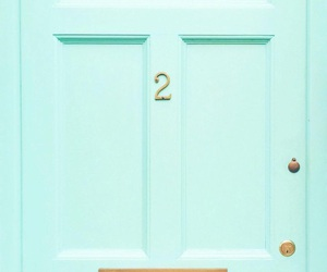 door, green, and pastel image