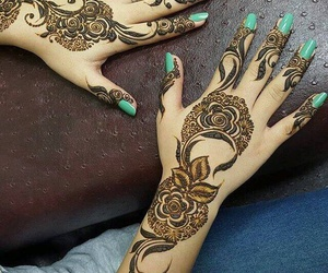 fashion, hennaart, and henna image