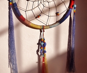 charm, colours, and dreamcatcher image