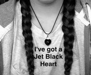 b&w, black and white, and braids image