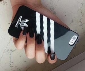 adidas, black, and iphone image