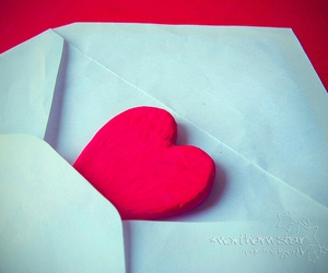 heart, love, and Letter image