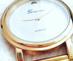 geneva, gold, and watch image