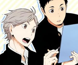 haikyuu, anime, and sugawara koushi image