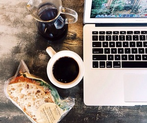 coffee, food, and laptop image