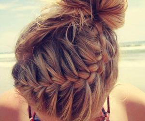 hair, braid, and summer image