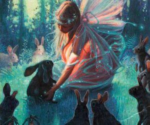 rabbit, fairy, and fantasy image