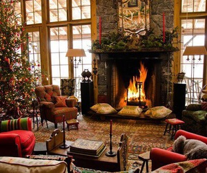 christmas, decoration, and fire image