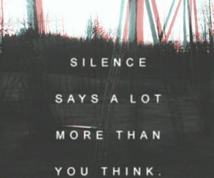 silence and thoughts image