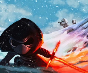 star wars, snow, and stormtrooper image