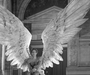 angel, wings, and man image