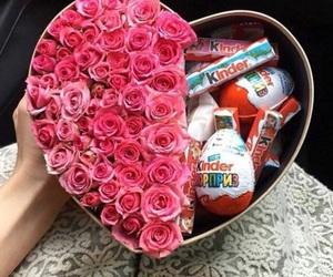 kinder, rose, and flowers image