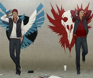 infamous second son, evil, and hero image