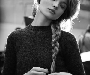 model, girl, and hair image