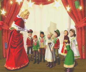 barbie, christmas, and Christmas carol image