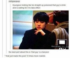 exo, chanyeol, and funny image