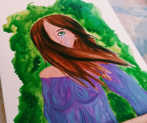 acrylics, art, and girl crying image
