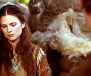 hayley atwell, aliena, and the pillers of the earth image