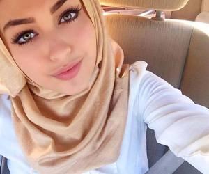 hijab, beautiful, and girl image