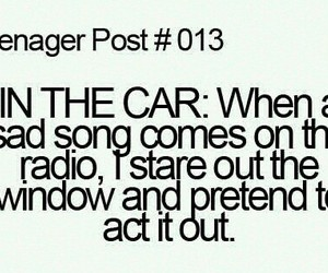teenager post, car, and song image