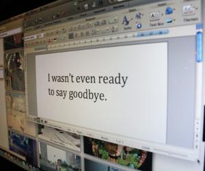 computer, goodbye, and photography image
