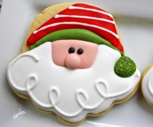 christmas, santa, and food image