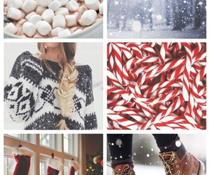 boots, candy canes, and christmas image