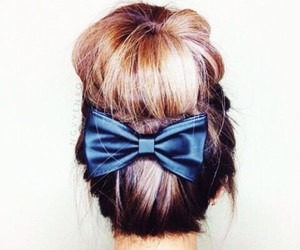 black, bow, and girl image
