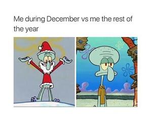 christmas, funny, and spongebob image