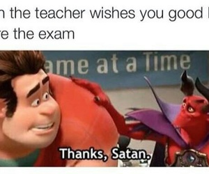 funny, exam, and satan image