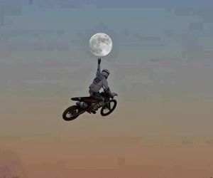 moon, sky, and moto image