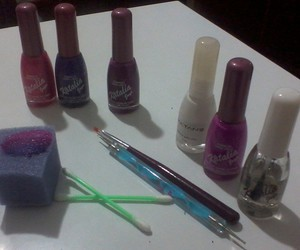 nails, uñas, and materiales image