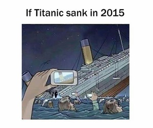 titanic, funny, and phone image