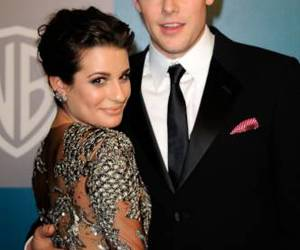 cory monteith, lea michele, and glee image