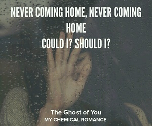 ?, coming, and ghost image