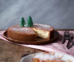 cake, cheesecake, and christmas tree image