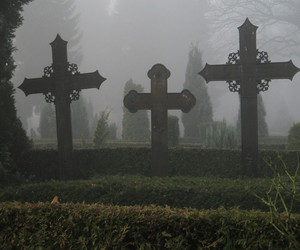 cemetery, cross, and death image